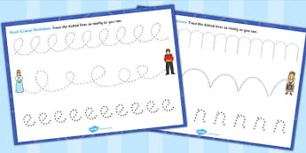 Cinderella Pencil Control Sheets - cinderella, pencil, control