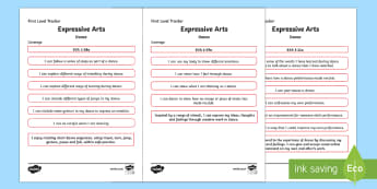 CfE Expressive Arts (Dance) First Level Child Friendly Tracking - Child Friendly Tracking CfE, tracker, EXA, curriculum for excellence, 1st level, progression, I can,