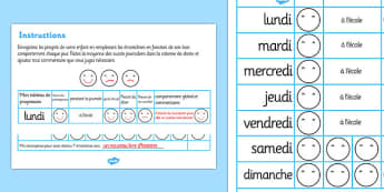 Home Behaviour Progress Chart French - french, home behaviour progress chart, progress, home, behaviour, charts, chart, award, well done, reward, medal, rewards, school, general, achievement