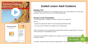 Year 5 Term 2 Poetry Reading Assessment Guided Lesson Teaching Pack - Year 3, Year 4 & Year 5 Reading Assessment Guided Lesson PowerPoints, KS2, reading, read, assessment