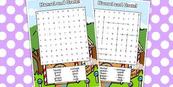 Hansel and Gretel Wordsearch - hansel, gretel, wordsearch, words