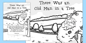 There Was an Old Man in a Tree Edward Lear Poem Print Out - Edward Lear, poetry, literature, English