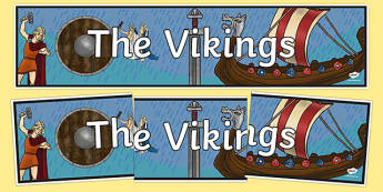 The Vikings Display Banner - vikings, display, banner, header
