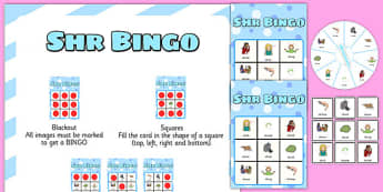 SHR Spinner Bingo - speech sounds, phonology, articulation, speech therapy, cluster reduction