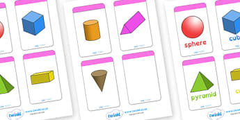 3D Shape Cards Dyslexia - 3d shape cards, 3d shape cards in dyslexia font, 3d dyslexia shape cards, 3d shape flash cards, sen shape cards, sen maths, sen