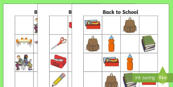 Back to School Themed Sudoku-Australia - Back to School, school equipment, Sudoku, maths worksheet,Australia