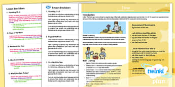 CfE First Level French Year 3 Time Overview - CfE, Planit, time, modern languages, one plus two, birthdays, days, months, date,French
