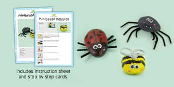 Minibeast Pebbles Craft Instructions - craft instructions, craft