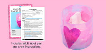 Valentines Day Candle Holder Craft EYFS Adult Input Plan And Resource Pack - plan
