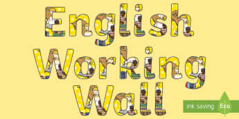 English Working Wall Display Lettering - English Title Display Lettering - display, lettering, english, letering, displaylettering, display l