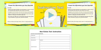 Instruction Text Read Record and Present Information Lesson Pack - deliver presentations, plan, ACELY1700, reading, comprehension, audience, purpose, multimodal,Austra