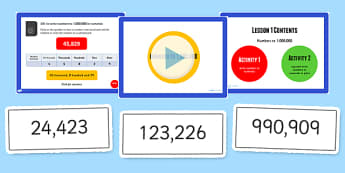 Year 5 Numbers to 1000000 Lesson 1 Teaching Pack - numeracy