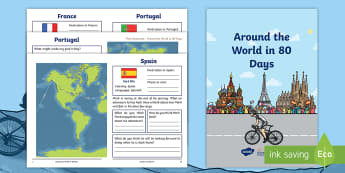 KS1 Mark Beaumont around the World in 80 Days Activity Booklet - World Challenge, cycle, cycling, bike, bicycle, World Record, weeks, months, world,  personal goal,