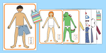 He, She, And It Pronoun Dress Up Description Game - learning support