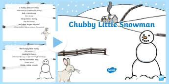 Chubby Little Snowman Rhyme PowerPoint - Winter, snow, season, cold, frost, rhyme, christmas