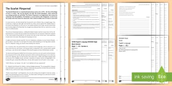 011 Eng Lang EDUQAS Style P1 Exam Questions Pack - English language GCSE Exam Papers, WJEC, EDUQAS, Reading, Writing, C19th Literature, Creative Prose,