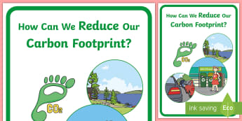 How Can we Reduce our Carbon Footprint? Display Poster - tidy kiwi, New Zealand, rubbish, recycling, Years 1-6, carbon footprint