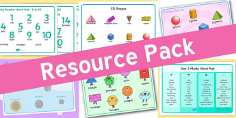 Resource pack preview for numeracy-word-mats
