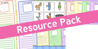 Resource pack preview for sen-writing-frames-and-worksheets