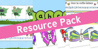 Resource pack preview for minibeasts-alphabet-display-resources