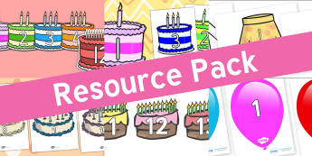Resource pack preview for birthdays-numbers-display-resources