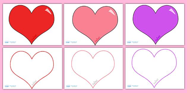 Valentine's Day Editable Heart Template (Large) - valentine, love
