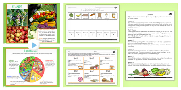 Cooking and Nutrition Resource Pack - healthy eating, health, DT