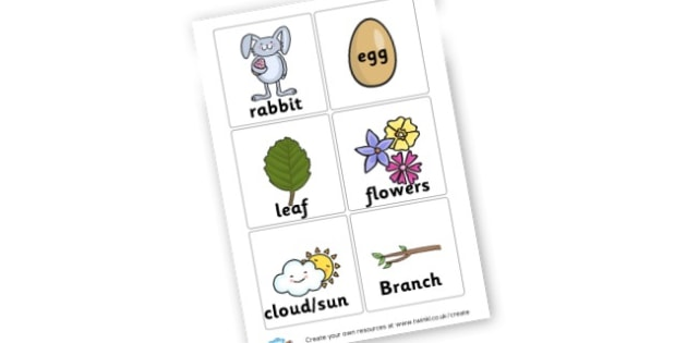 Spring Time Classroom Hunt ESL Cards - Spring Classroom & signs, Primary Resources, seasons