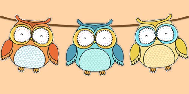 Superb Owl Themed Bunting - superb owl, bunting, display bunting, display, super bowl