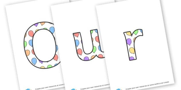 Our Birthdays - Display Lettering - Birthdays, Display,  Primary Resources, birthday, party, happy, c