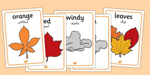 Autumn Display Posters Arabic Translation - arabic, autumn, display, posters