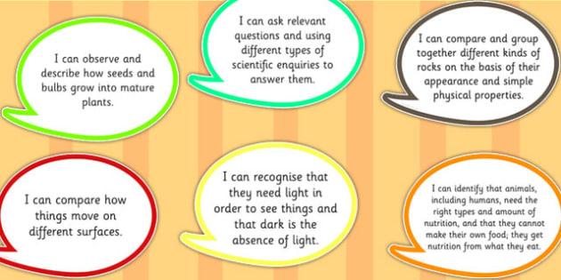 2014 Curriculum Year 3 Assessment I Can Speech Bubbles - targets