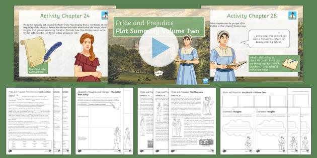 Pride and Prejudice Lesson Pack - Plot, Volume Two  - Pride and Prejudice, Jane Austen, Elizabeth Bennet, Literary Heritage Prose, GCSE English Literature