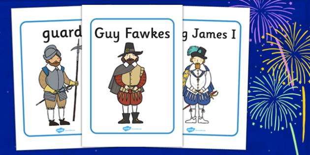 The Gunpowder Plot Display Posters - Display poster, bonfire night, sign, display, Guy Fawkes, bonfire, Houses of Parliament, plot, treason, fireworks, Catholic, Protestant, James I