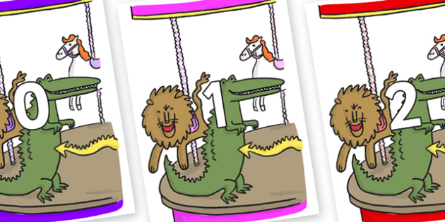 Numbers 0-100 on Trick 3 to Support Teaching on The Enormous Crocodile - 0-100, foundation stage numeracy, Number recognition, Number flashcards, counting, number frieze, Display numbers, number posters