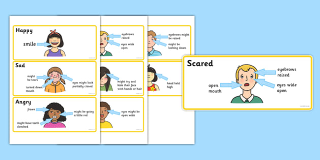 Emotions Characteristics Cards - emotions, feeling, feel, express