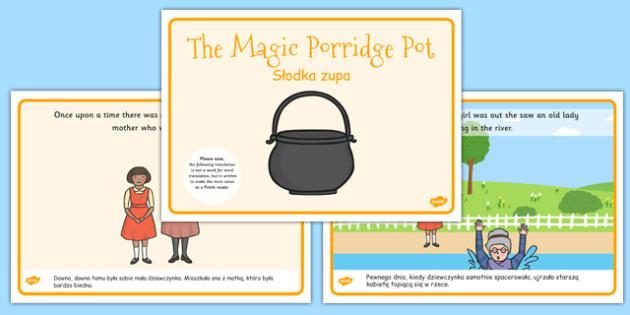The Magic Porridge Pot Story Sequencing A4 Polish Translation - polish, magic porridge pot