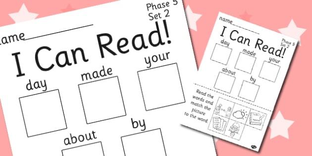 I Can Read Phase 5 Set 2 Words Activity Sheet - phase 5, activity, worksheet