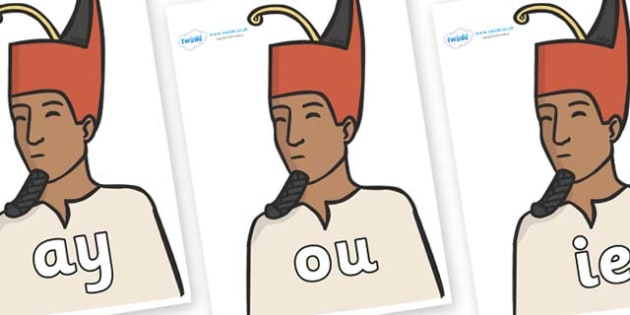 Phase 5 Phonemes on Egyptian Kings - Phonemes, phoneme, Phase 5, Phase five, Foundation, Literacy, Letters and Sounds, DfES, display