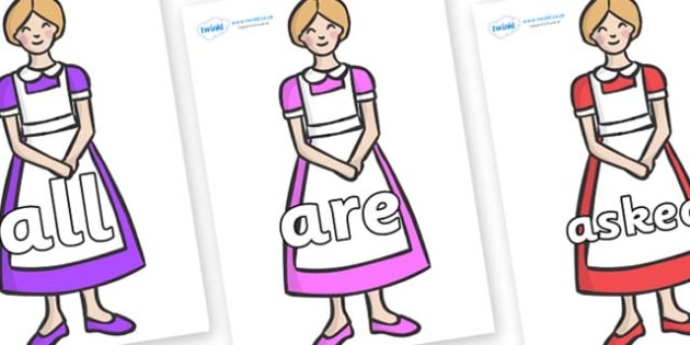 Tricky Words on Maids - Tricky words, DfES Letters and Sounds, Letters and sounds, display, words