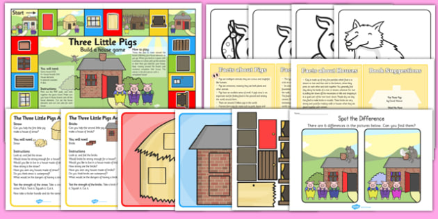 The Three Little Pigs Discovery Sack - discovery sack, little pig