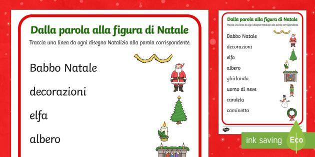 Dalla parola alla figura di Natale - natale, collega parola figura, natalizio, babbo natale, natalizio, festivo, buone feste, figura, par