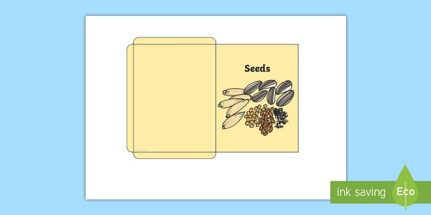 Design a Seed Packet - Seed packet, seeds, garden centre, plants, plant, topic, colour recognition, fine motor skills, activity