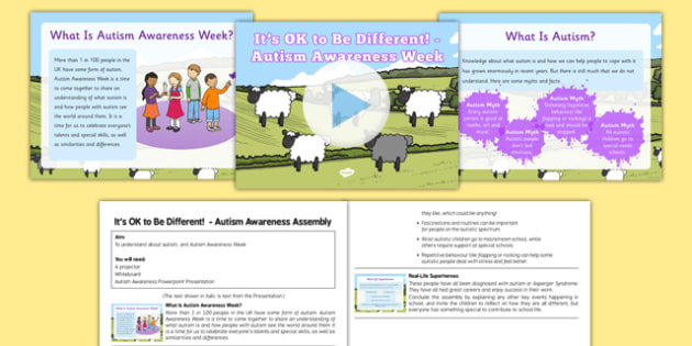 It's OK To Be Different Autism Awareness Assembly - its ok to be different, autism awareness, assembly