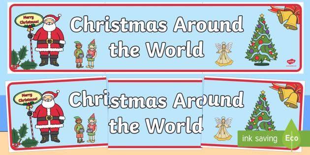 Australia Christmas Around The World Display Banner - christmas, banner