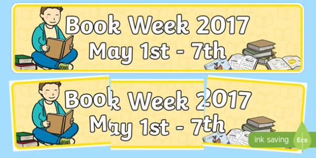 Book Week Display Banner - usa, america, book week, display banner, display, banner
