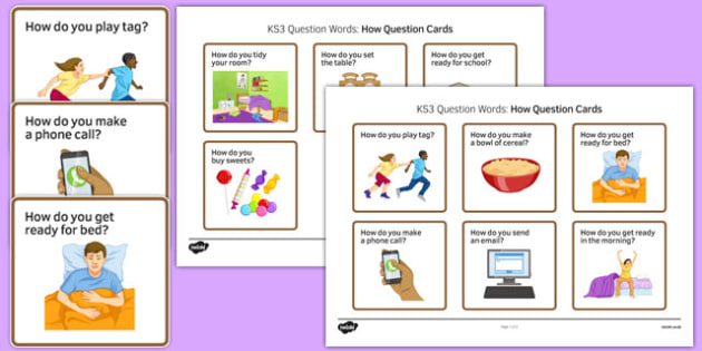KS3 How Question Cards - SEN, support, behaviour, relationships, secondary, activity, PSHE