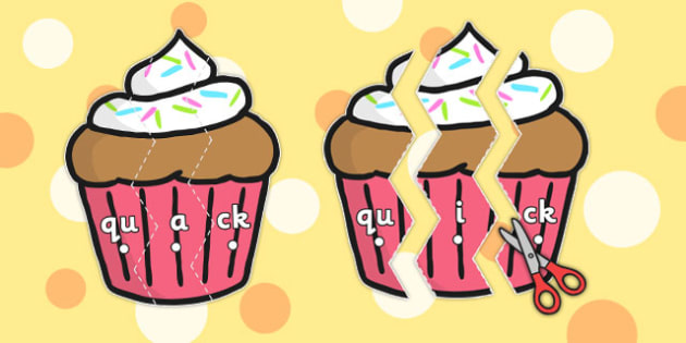 Phase 3 Digraphs on Cupcakes - phase 3, digraphs, cupcakes, words