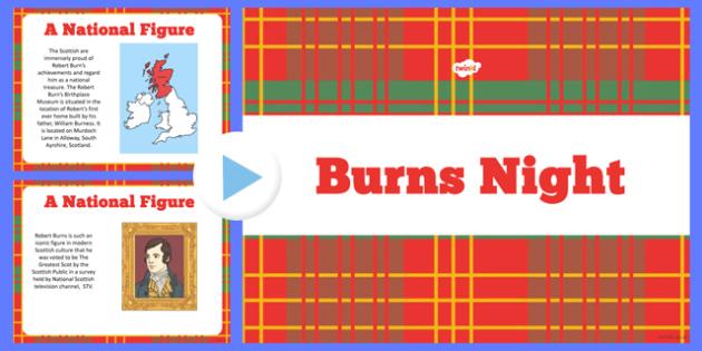 Burns Night Information PowerPoint - burns, night, powerpoint