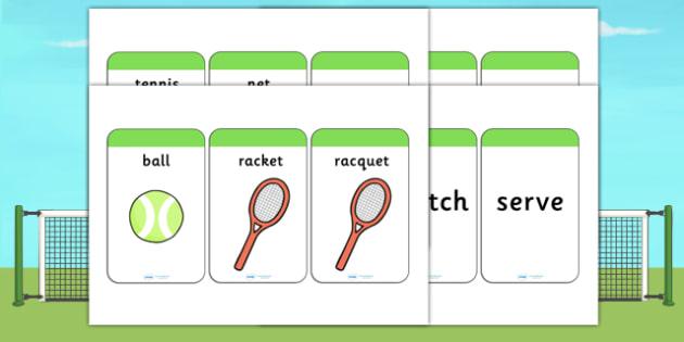 Wimbledon Themed Flash Cards - sport, sports, tennis, visual aid